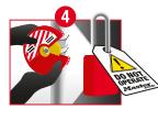 Stap 4: Isolatie van het systeem van gevaarlijke energie