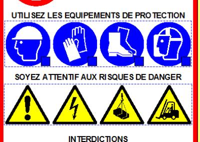 Veiligheidsvoorschriften 200 x 300 mm