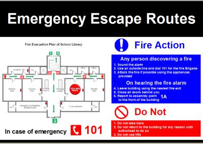 Evacuatieplan 200 x 300 mm