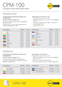 CPM100 Prijslijst frontblad NL