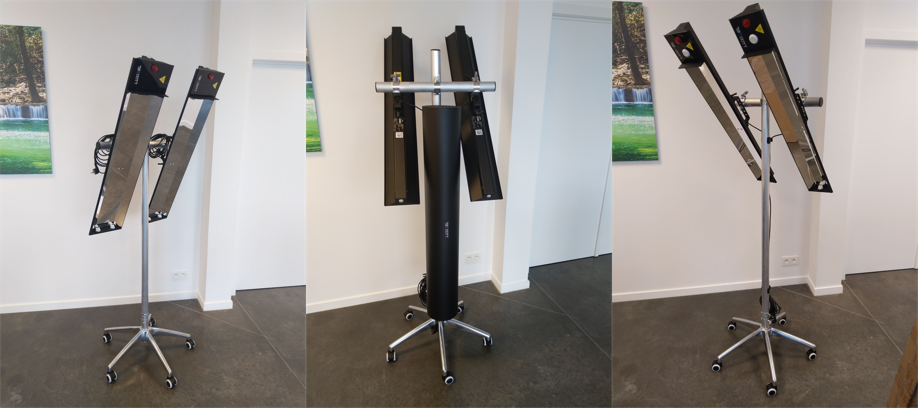 Een mobiele oplossing voor het desinfecteren van uw werkplek